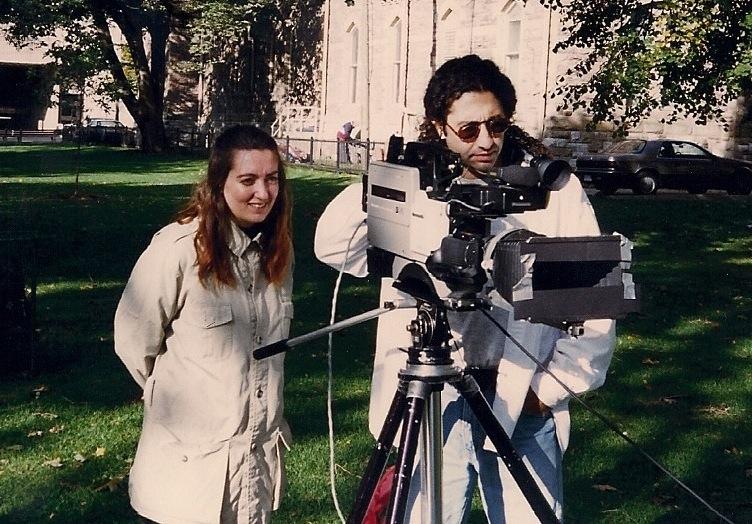 Johanna Kern na planie filmu