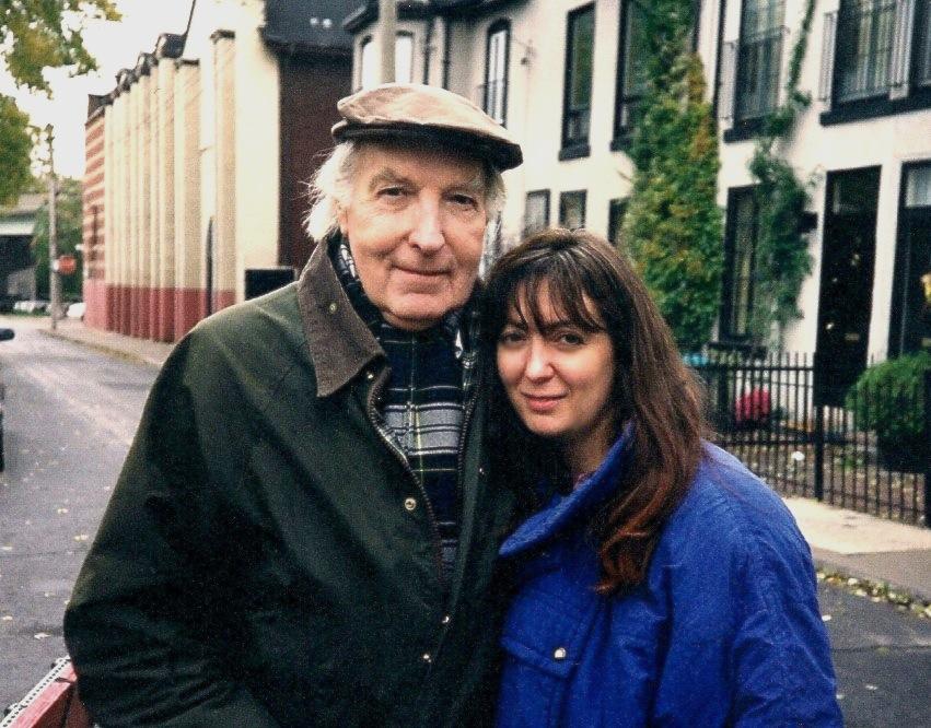 """Johanna Kern z serdecznym przyjacielem Geraldem Pratley (legendą kina kanadyjskiego, który grał Briana Forsythe w filmie """"Czereśnie dla Briana"""") podczas kręcenia filmu w Toronto."""