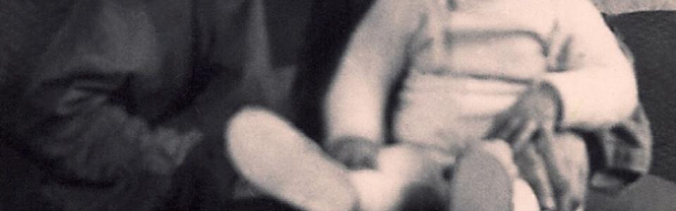 Johanna Kern  - z prywatnej kolekcji: dzieciństwo: Z Dziadkiem