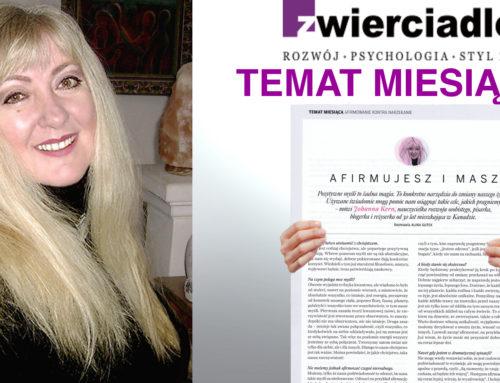 """AFIRMUJESZ I MASZ – wywiad z Johanną Kern w magazynie """"Zwierciadło"""""""